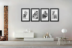 Set 4 Photo Frame Set Picture Frames 16x20 Matt 10x13 Wall Art
