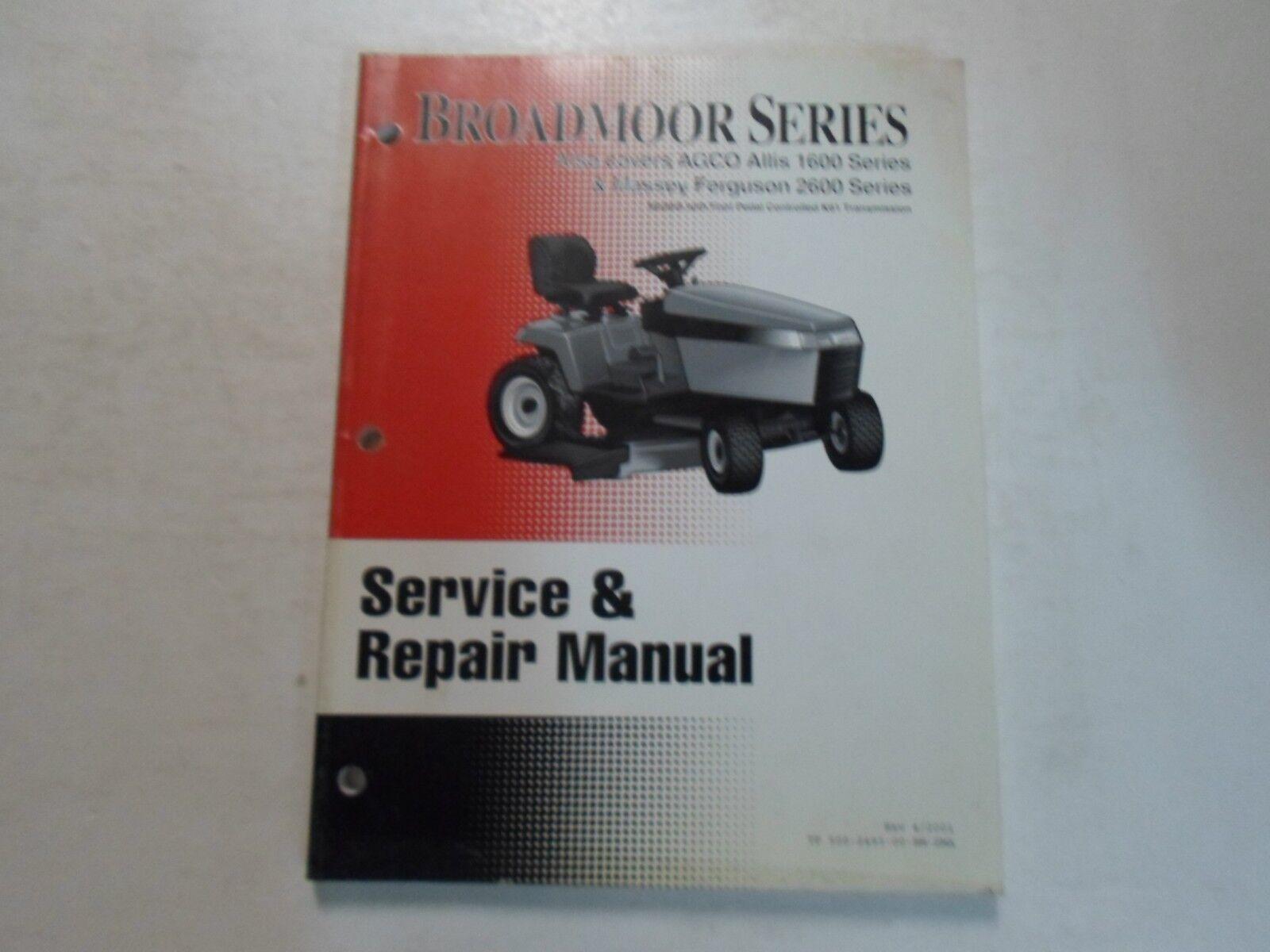 2002 Semplicità Allis 1600 Massey Ferguson 2600 Libro Broadmoor Serie