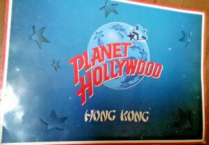 Planet-Hollywood-Hong-Kong-Getraenkekarte-food-and-drink-menu-old-rare-1996