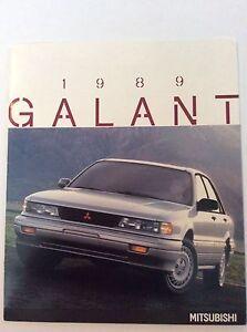 1989 Mitsubishi Galant 20-page Original Car Sales Brochure Catalog