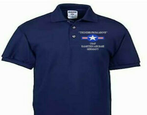 RAMSTEIN AIR BASE GERMANY USAF EMBROIDERED POLO SHIRT/SWEAT/JACKET.
