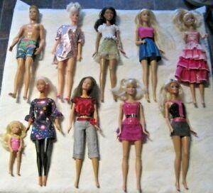 Barbie-Doll-Lot-Lot-of-10-Dressed-Barbie-amp-Friends-Dolls-Lot-3