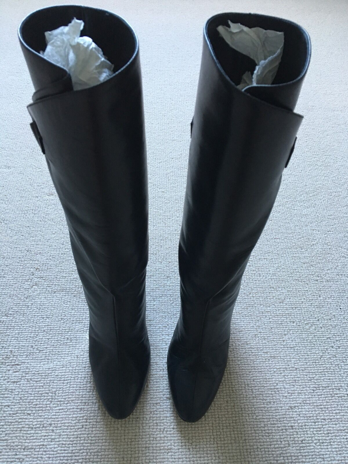 Balenciaga Super Super Balenciaga Rare Calf Leather Stiefel Größe2.5 euro Sz35 654cff