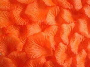 Decorazioni Matrimonio Arancione : Arancione petali di rosa in seta matrimonio decorazioni per