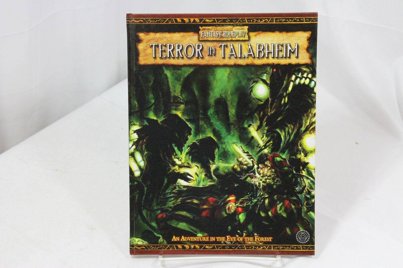 El terror en talabheim Warhammer Fantasy Juego de Rol Negro Ind wfrp 2nd Ed.