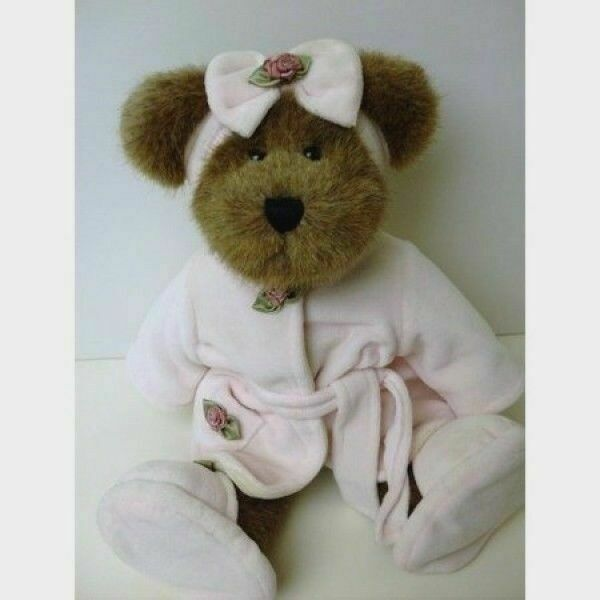 Boyds Bears Plush LILLIAN K BEARSLEY Fabric Jointed Bean Filled 91743 new
