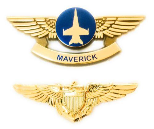TOP GUN MAVERICK and NAVY UNIFORM PILOT WINGS PINS