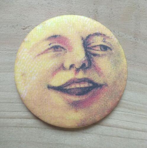 Vintage Moon Face 25mm Xmas Pocket Mirror 58mm Button Badges