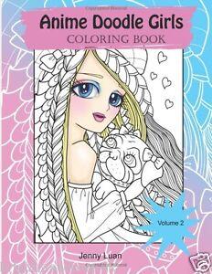 Image Is Loading Anime Doodle Girls Adult Colouring Book Manga Kawaii
