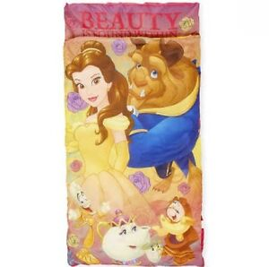 the best attitude a6c78 99558 Details about Beauty and The Beast Slumber Bag Sleeping Bag buildin Pillow  Disney Princess