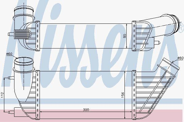 Nissens 96609 Ladeluftkühler für Peugeot Expert 2.0 Hdi 07