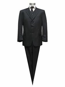 Muga-Herren-Anzug-2-teilig-Gr-46-Schwarz