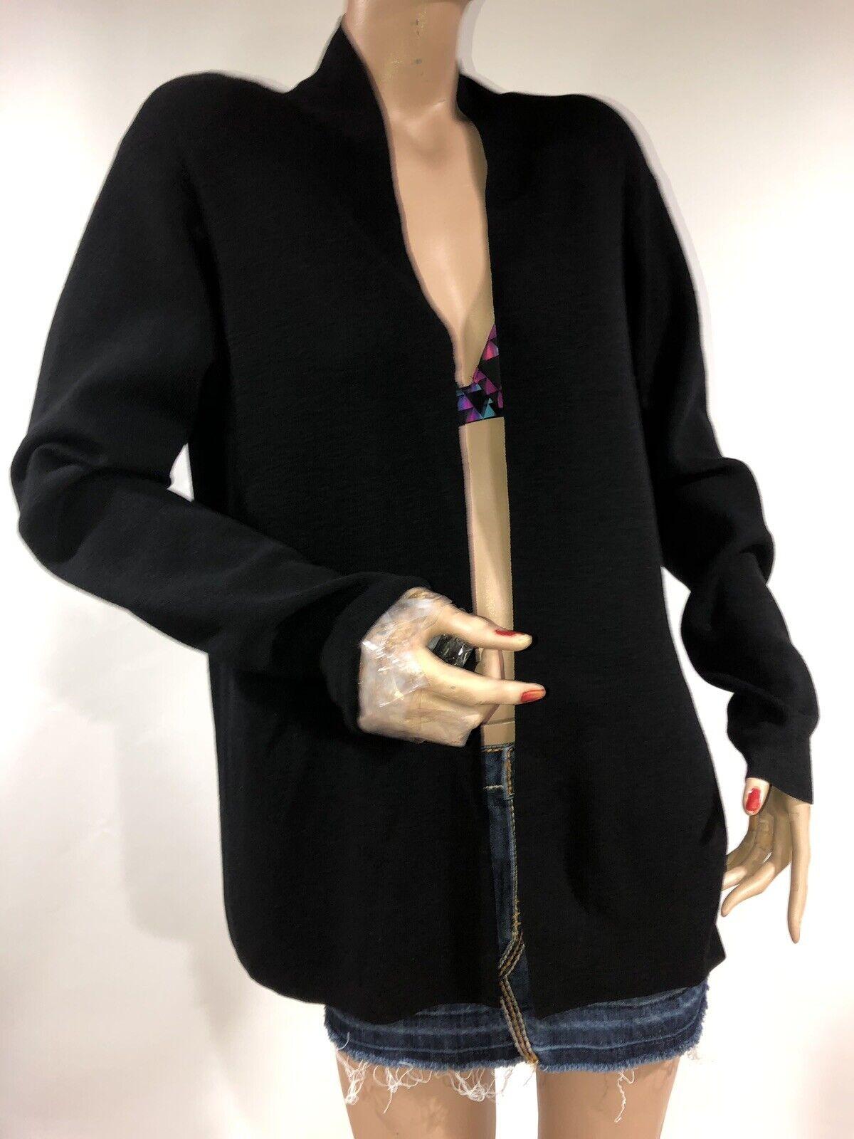 Eileen Fisher 100% Merino Open Front Cardigan Sweater - Size M