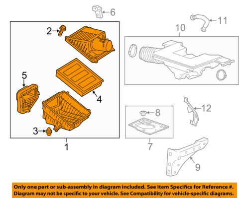 GM OEM Air Cleaner Intake-Filter Box Housing 23192713