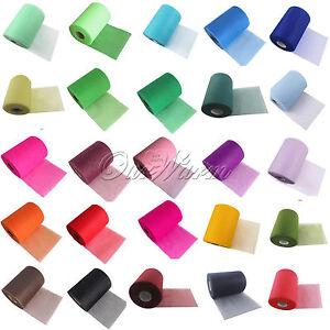 Tulle-Roll-Spool-6-034-x100YD-Tutu-DIY-Circle-Skirt-Fabric-Party-Wedding-Craft-Decor