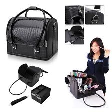 Professional Make Up Nail Tech Cosmetic Box Jewellery Vanity Saloon Case Bag