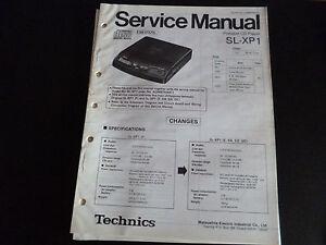 Original-Service-Manual-Technics-Portable-CD-Player-SL-XP1