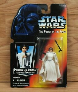 Kenner Star Wars Power Of The Force Princess Leia with Laser Pistol 1996