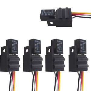 5 x 12v 20a 30a spst relay for electric fan fuel pump horn car kit rh ebay co uk