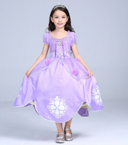 Girls Sofia The First Deluxe Costume Princess Childs Fancy Dress