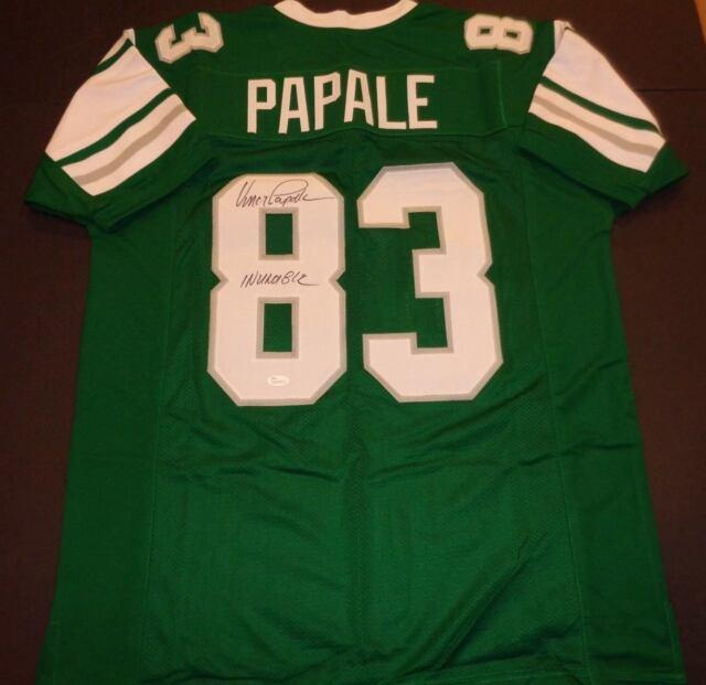Vince Papale Philadelphia Eagles Autographed Custom Style Jersey XL Coa JSA  - 4f6d56849