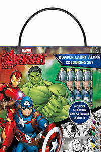 Marvel-Avengers-Bumper-Carry-Along-Colouring-Set-Crayons-Travel-Acivity-Kids