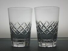 TUDOR CRYSTAL CUT GLASS LEAD CRYSTAL WHISKY TUMBLERS WHISKEY GLASSES SET OF 2