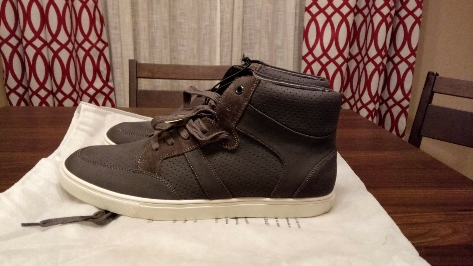 EXPRESS Perforated High Top Sneaker Grey Size US 11 28cm
