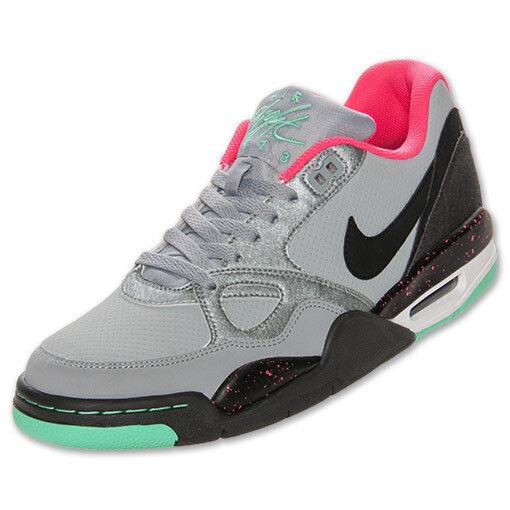 Nike Flight 13 Low Basketball 10 Shoes 599467-006 Silver/Gray/Pink/Green Men's 10 Basketball 6849f4