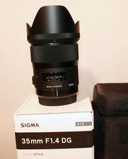 """SIGMA DG 35 mm f/1.4 HSM obiettivo tipo """"per Pentax AF"""" NUOVO CON FATTURA"""