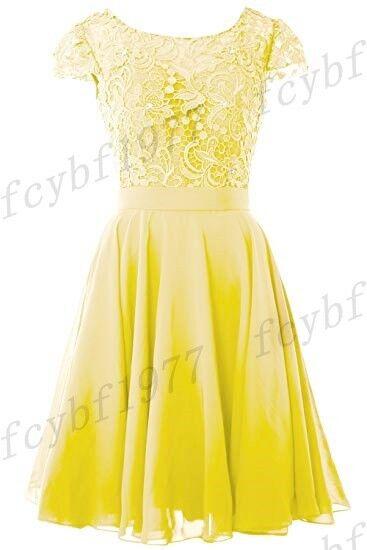 New Short Bridesmaid Formal Gown Ball Party Evening Prom Dress Dress Dress Size 6-26 66de8a
