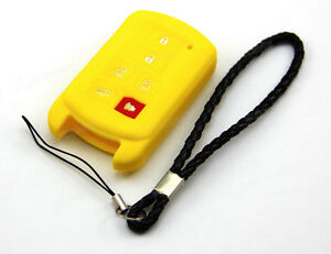 Yellow Silicone Case Cover For Toyota Sienna Remote Smart Key 6 Buttons toy6sye