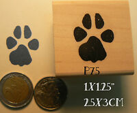 Paw Print Rubber Stamp. P75