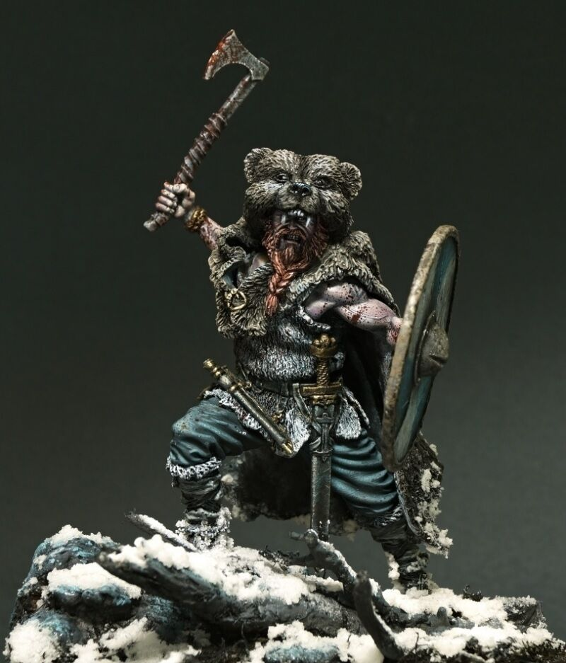 Resin soldier, museum, Viking, Conquerors, Berserker in bear's skin, Nord
