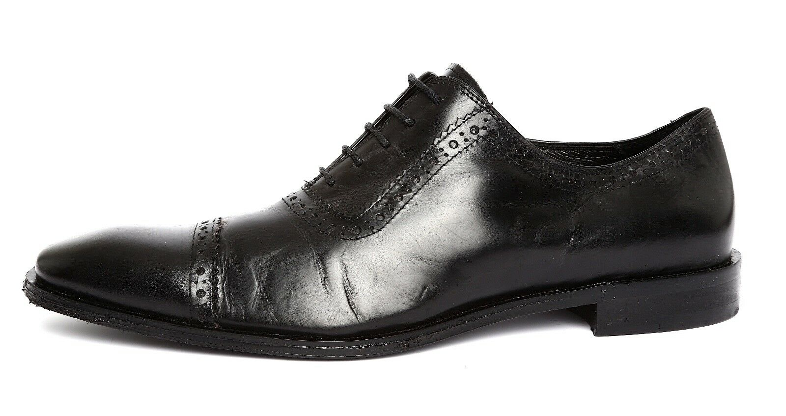 Calibrate Men's Black Leather Oxfords Sz 8M 5081