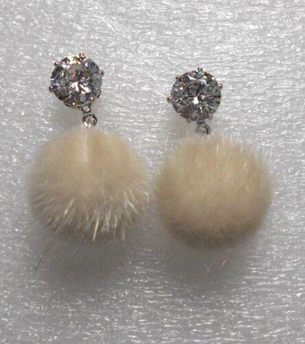 crystal 16mm pompom Stud earrings choose colour