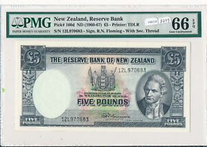New-Zealand-1960-7-5-Pound-PMG-GEM-UNCIRCULATED-66-EPQ-PM0126-pick-160d-combin