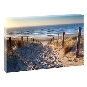 weg zum strand bild strand meer keilrahmen leinwand poster xxl 120 cm 80 cm 544 ebay. Black Bedroom Furniture Sets. Home Design Ideas