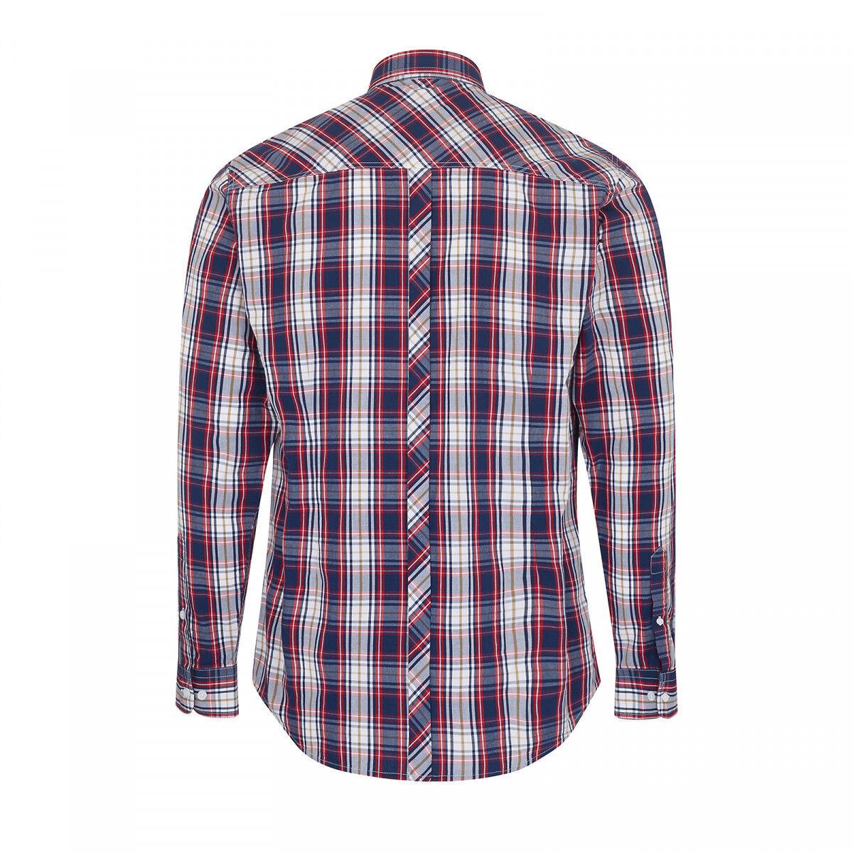 MERC LONDON pour hommes Femmeches longues chemise à rouge carreaux - Frank rouge à / Bleu 31ee91