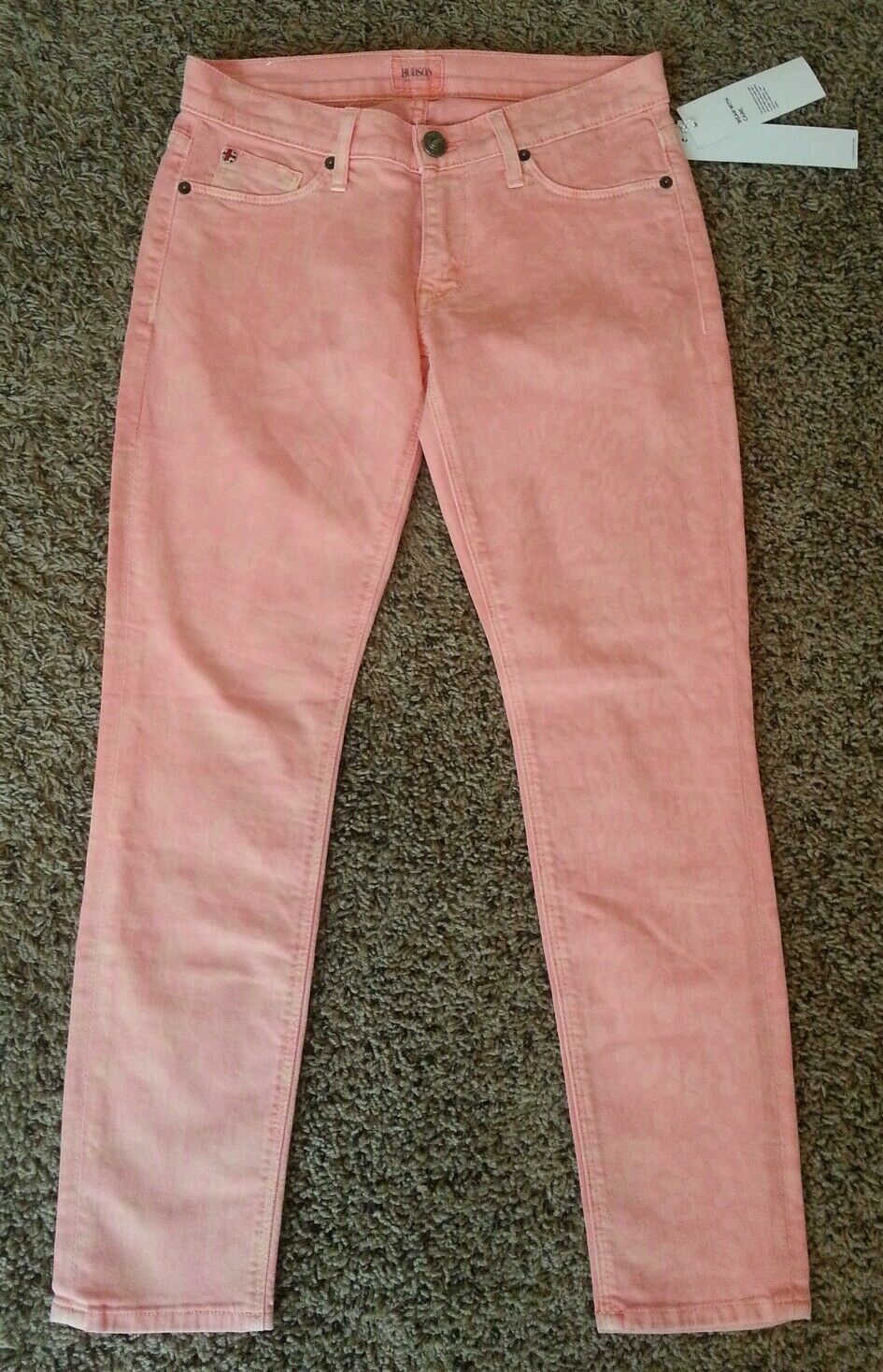 NWT Hudson Krista Crop Super Skinny Peal Pink Animal Print Jeans 25
