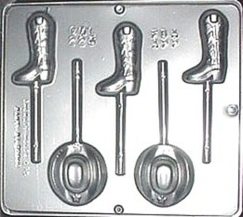 Cowboy Hat /& Boot Lollipop Chocolate Candy Mold  225 NEW