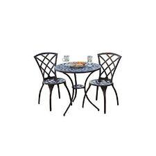 Bistro Set Outdoor Garden Patio Furniture Cast Aluminum, (3-Piece) Table Chair