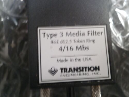 4//16 Mbs TRANSITION ENGINEERING TYPE 3 MEDIA FILTER