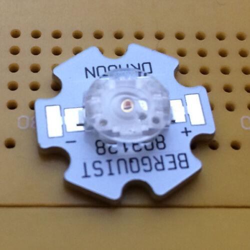 Amber LED w Lens 1.1W OSRAM Golden Dragon Emitter /& Star Mounted 160° Yellow