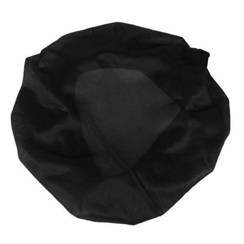 10 Pcs Large Satin Night Sleep Cap Hair Bonnet Hat Head Cover Wide Band Elastic