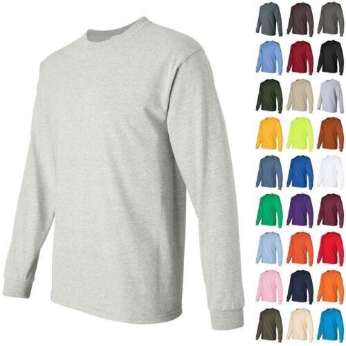 ss Gildan Ultra Cotton Crewneck Long Sleeve T Shirt 2400  FREE SHIPPING  B3G1