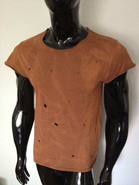 Wasteland T-Shirt Destroyed Grunge Post Apocalyptic Fallout Mad Max Torn Costume