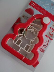 3D Sitting Santa Christmas Cookie Cutter NEW