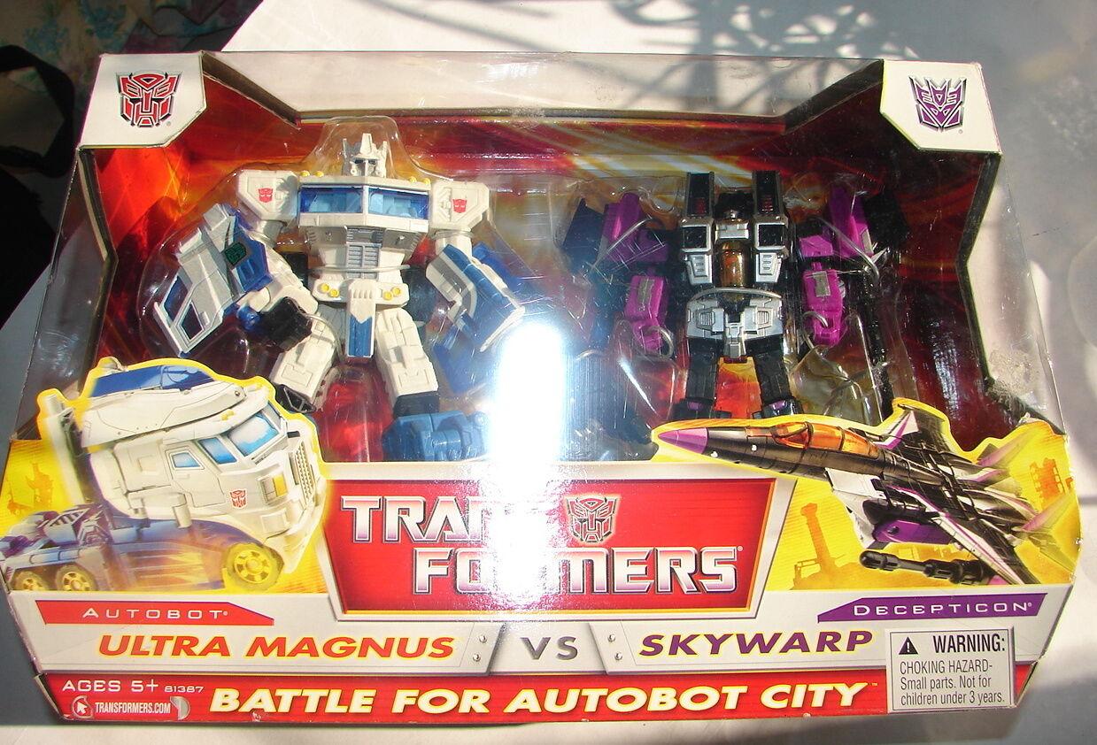 Transformadores Autobot Clásico Batalla Por Ciudad Ultra Magnus y Skywarp Y En Caja Sellada 914