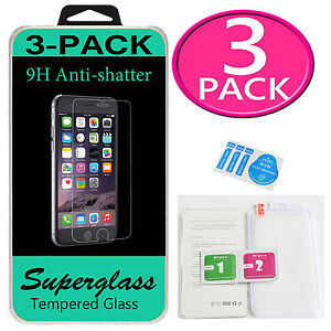 For iPhone 6S Plus Tempered Glass Screen Protector HD Premium New 638932301539